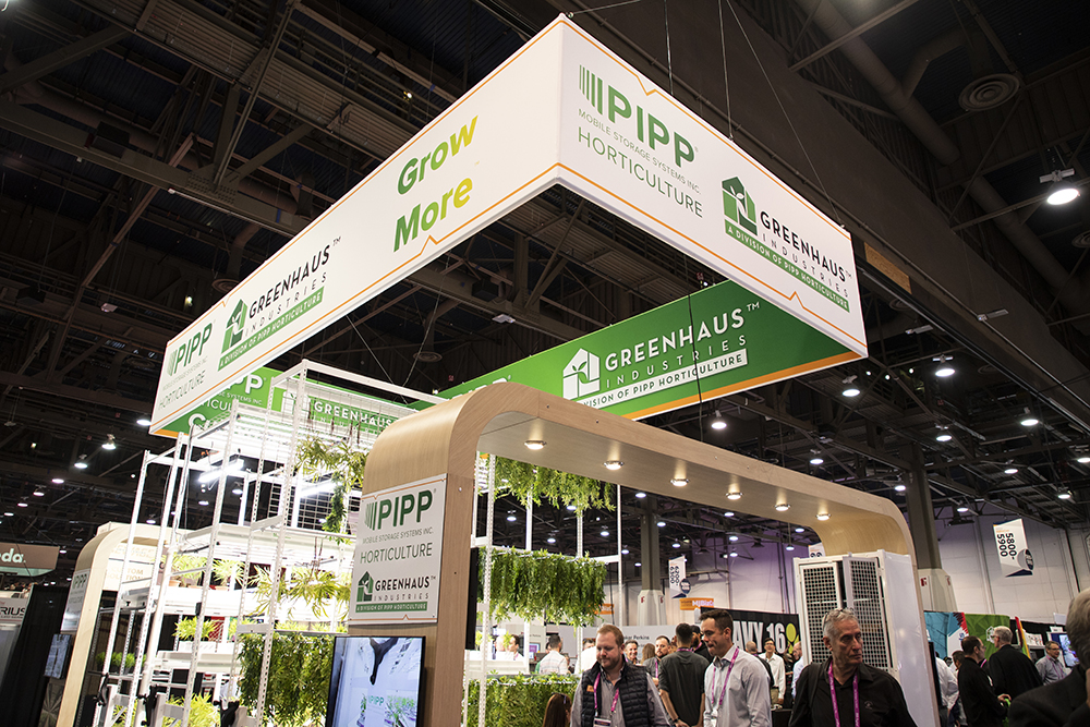 Pipp Horticulture booth at MJBizCon | Showcasing our cultivation facility equipment